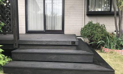 藤沢市 S様邸 ウッドデッキ塗装作業