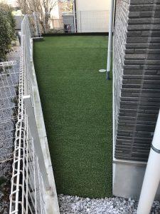 横浜市港南区 人工芝(雑草対策・防草・グランドカバー)