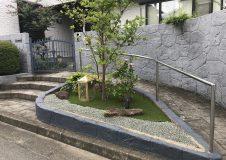 横浜市 戸塚区 人工芝&砂利敷き