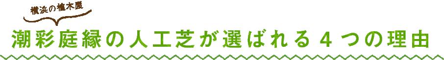 横浜の植木屋 潮彩庭園の人工芝が選ばれる4つの理由