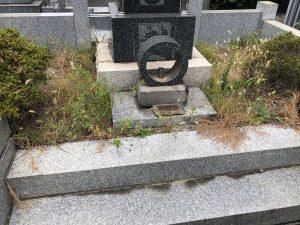 茅ケ崎市 ご先祖様の大切なお墓の防草処理&砂利敷き