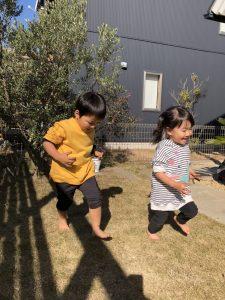 3年前に造園した大磯の庭。成長したお子様の遊び場に!
