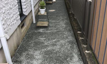 横浜市 戸塚区 砂利敷き